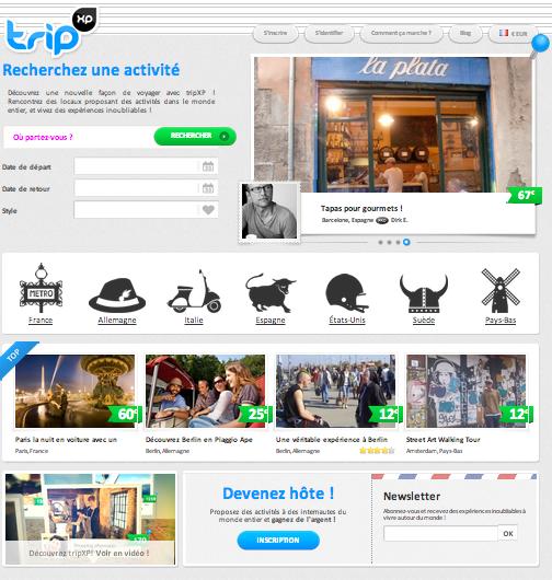 TripXp vous fera découvrir les villes européennes sous des jours nouveaux ... attention ca décoiffe pour le parcours du voyageur connecté