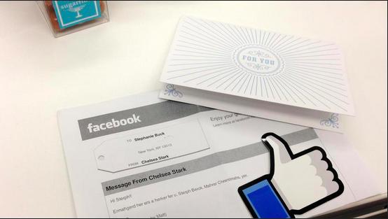 vous recevez votre Facebook Gift