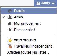 Hashtags sur Facebook pour que ca marche écrivez vos statuts en public