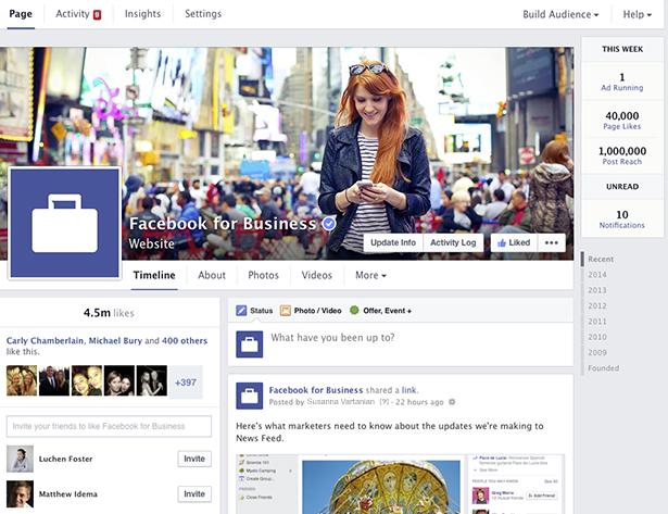 Dimensions et tailles des images Facebook