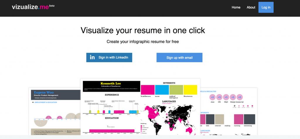Vizualize.me pour créer vos infographies