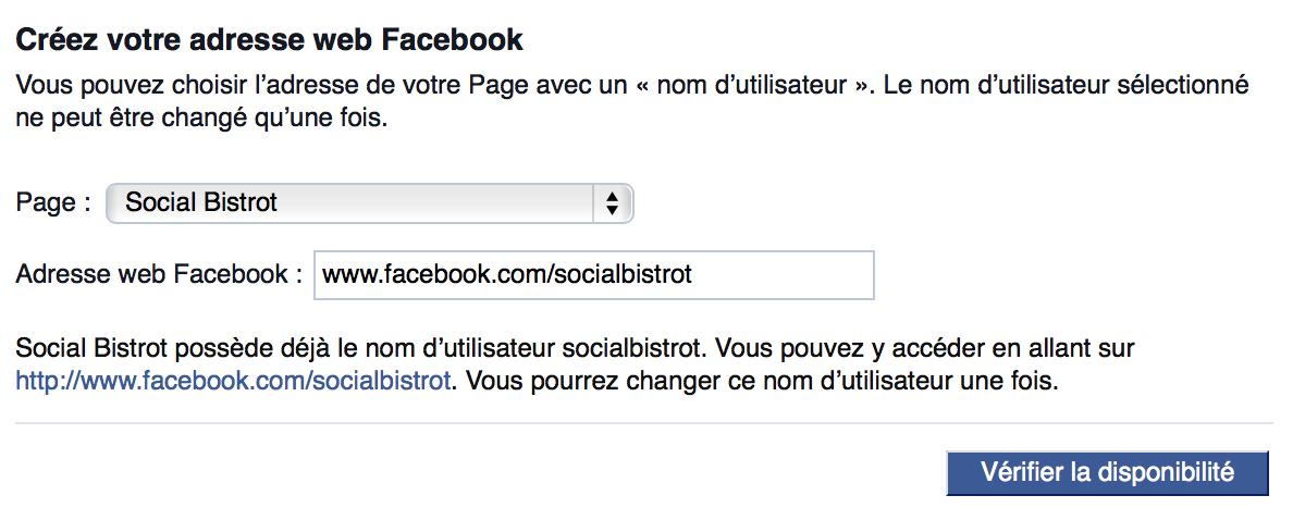 Changez L Url Facebook De Votre Page