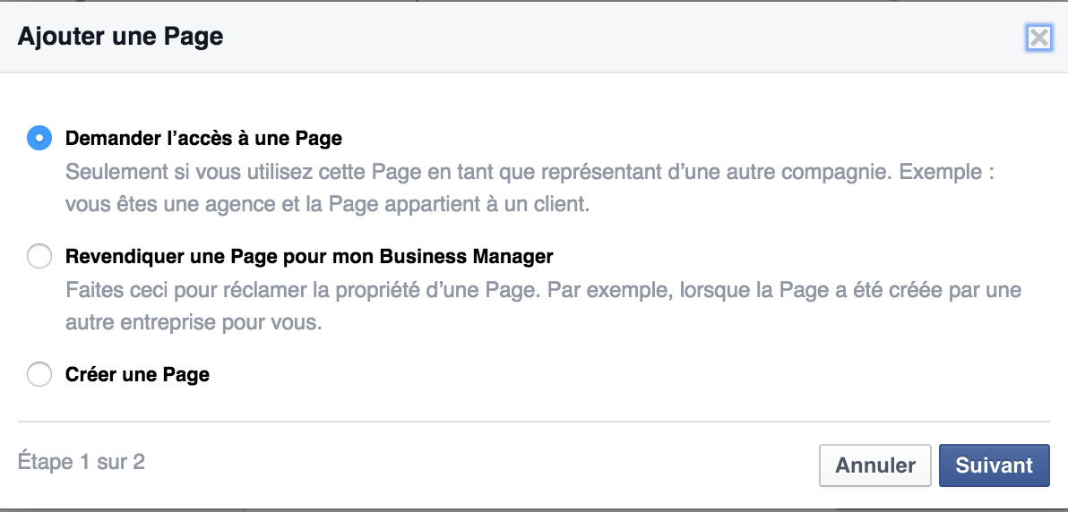 business manager page