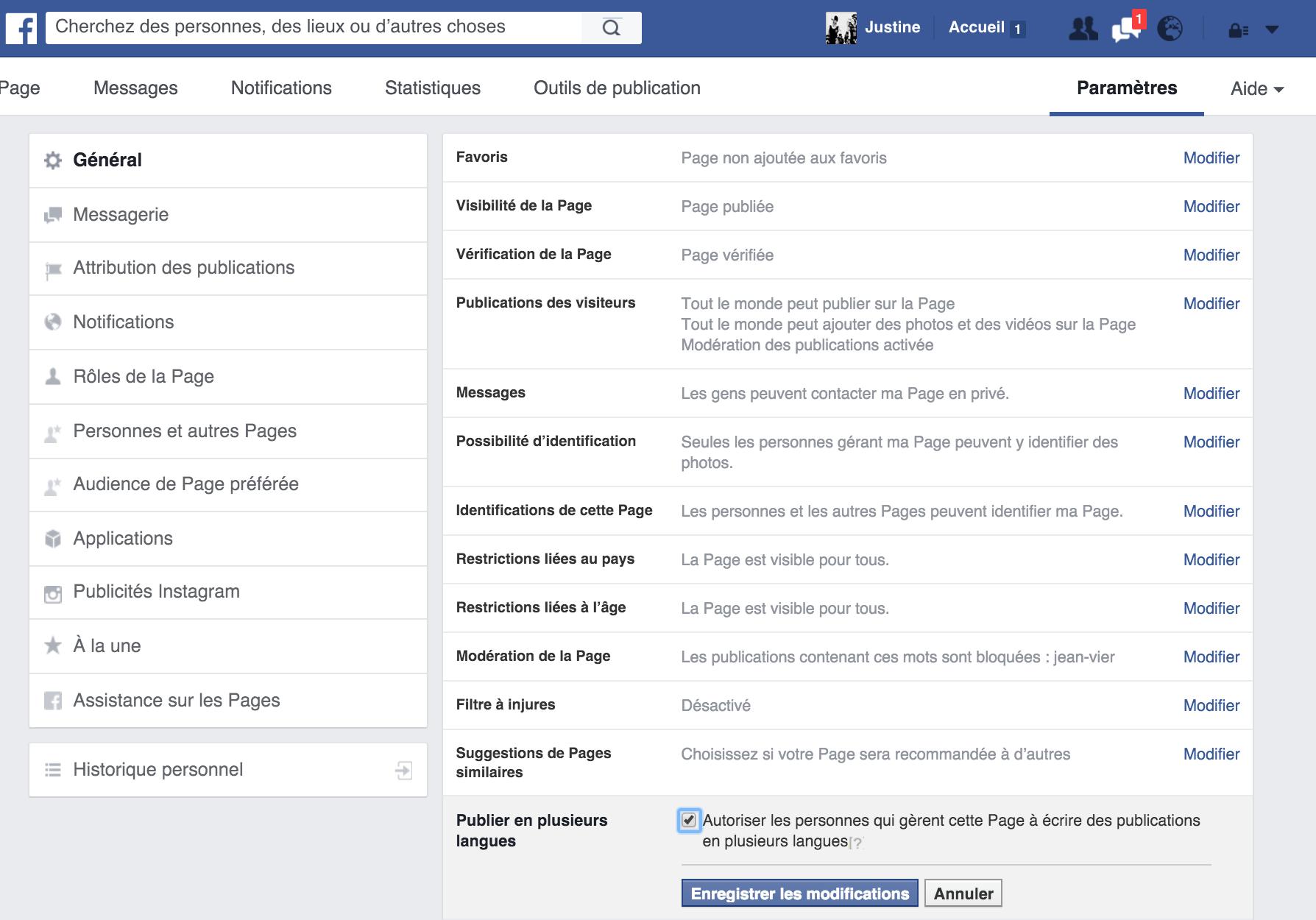 publier des publications en plusieurs langues sur Facebook